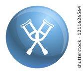 crutches icon. outline crutches ... | Shutterstock .eps vector #1211626564