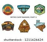 vintage hand drawn travel... | Shutterstock .eps vector #1211626624