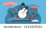 collaboration vector... | Shutterstock .eps vector #1211629231