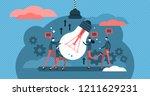 collaboration vector... | Shutterstock .eps vector #1211629231