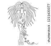 vector beautiful hand drawn... | Shutterstock .eps vector #1211633377