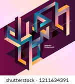 abstract multicolor geometrical ... | Shutterstock .eps vector #1211634391