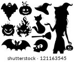 set of halloween icons. | Shutterstock .eps vector #121163545