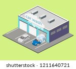 isometric flat 3d isolated... | Shutterstock .eps vector #1211640721