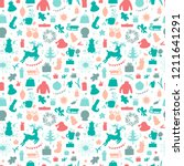 merry christmas background.... | Shutterstock .eps vector #1211641291
