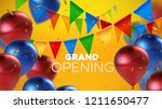 grand opening. business startup ... | Shutterstock .eps vector #1211650477