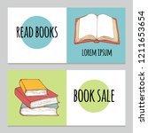 set of horizontal banner with... | Shutterstock .eps vector #1211653654