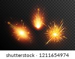 fiery sparks collection.... | Shutterstock .eps vector #1211654974