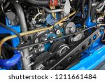 close up view on new bus diesel ... | Shutterstock . vector #1211661484