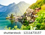 scenic picture postcard view of ... | Shutterstock . vector #1211673157