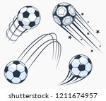 soccer football moving swoosh... | Shutterstock .eps vector #1211674957