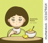 morning menu vector... | Shutterstock .eps vector #1211675614