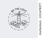 be the light. vintage... | Shutterstock .eps vector #1211678377