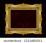 decorative vintage frame and... | Shutterstock .eps vector #1211681011