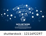 vector polygon mobile data icon ... | Shutterstock .eps vector #1211692297