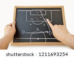 coach indicating with the... | Shutterstock . vector #1211693254