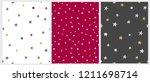 set of 3 varius star vector... | Shutterstock .eps vector #1211698714
