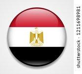 flag of egypt. round glossy... | Shutterstock .eps vector #1211698981