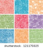 set of nine floral lace... | Shutterstock . vector #121170325