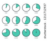 time clock icon set flat design ... | Shutterstock .eps vector #1211712937