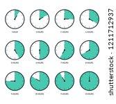 time clock icon set flat design ... | Shutterstock .eps vector #1211712937