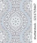 baroque damask pattern ...   Shutterstock . vector #1211715667