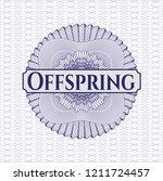 blue passport money rossete... | Shutterstock .eps vector #1211724457
