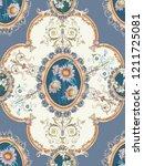 baroque damask pattern ... | Shutterstock . vector #1211725081