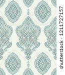 baroque damask pattern ...   Shutterstock . vector #1211727157
