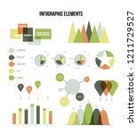 infographic elements  info... | Shutterstock .eps vector #1211729527