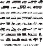 55 icons with the black image...   Shutterstock .eps vector #121172989