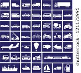44 white images of transport on ... | Shutterstock .eps vector #121172995