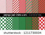 christmas candy cane stripes... | Shutterstock .eps vector #1211730034