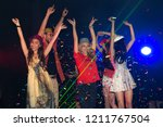 night party groups of friends... | Shutterstock . vector #1211767504