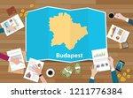 budapest hungary capital city... | Shutterstock .eps vector #1211776384