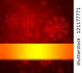 red winter background | Shutterstock . vector #121177771