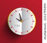 paper clock face vector... | Shutterstock .eps vector #1211793394