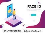 isometric face identification... | Shutterstock .eps vector #1211802124