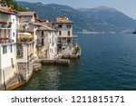 old houses on the bank of como... | Shutterstock . vector #1211815171