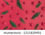 christmas composition.... | Shutterstock . vector #1211820901