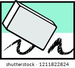 erasing graphite mark with a... | Shutterstock .eps vector #1211822824