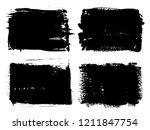 grunge banners set.vector... | Shutterstock .eps vector #1211847754