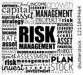 risk management word cloud... | Shutterstock .eps vector #1211849464