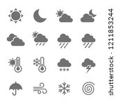weather icon set | Shutterstock .eps vector #1211853244