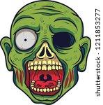cartoon zombie head  | Shutterstock .eps vector #1211853277