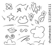 vector hand drawn collection of ... | Shutterstock .eps vector #1211854111