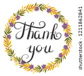 thank you. illustration with... | Shutterstock .eps vector #1211862841