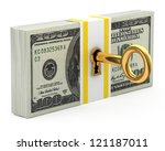Key And Money Isolated On Whit...