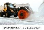 snowplow truck vehicle removing ... | Shutterstock . vector #1211873434