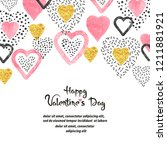 valentines day background with... | Shutterstock .eps vector #1211881921